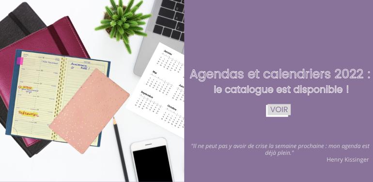 agendas calendriers 2022
